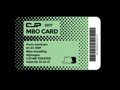 MBO-card